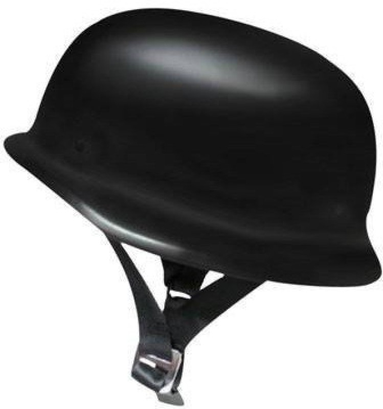 AutoSun German Style Half Motorsports Helmet(Black)
