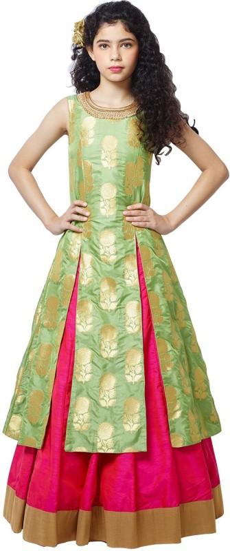 Wommaniya Impex Girl's Lehenga Choli Fusion Wear, Ethnic Wear Embellished, Embroidered Lehenga...