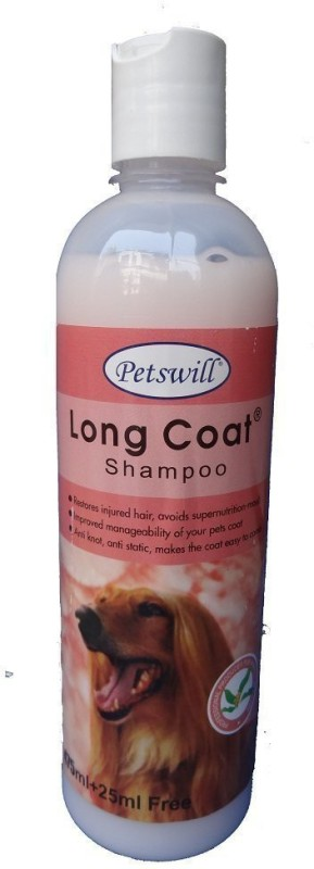 PETSWILL Petswill long coat shampoo 500ML Allergy Relief, Anti-dandruff, Anti-itching, Flea and Tick, Hypoallergenic, Whitening and Color Enhancing ALOE VERA Dog Shampoo(500 ml)