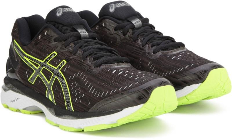 Asics GEL-KAYANO 23 LITE-SHOW Running Shoe For Men(Black, Green)