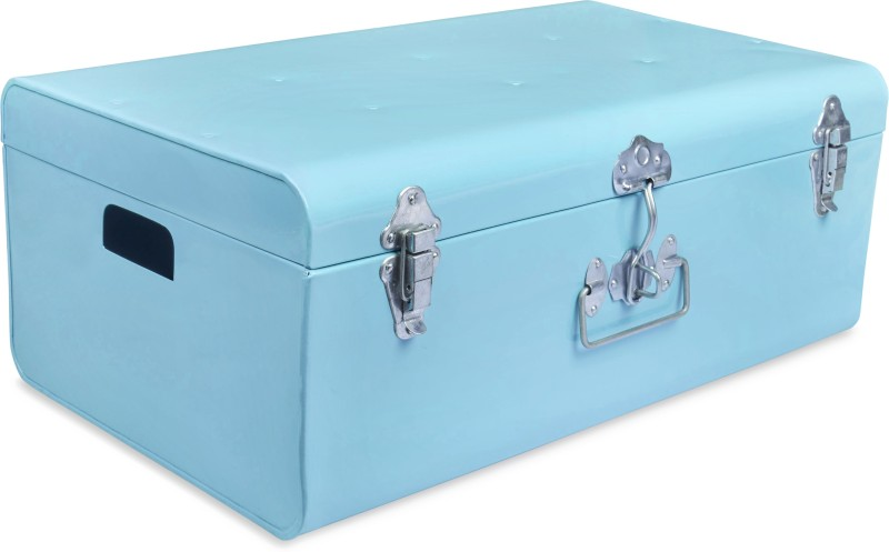 Elan Metal Trunk(Finish and Fabric Color - AQUA)