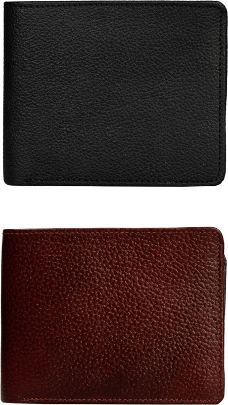 Exotique Men Multicolor Genuine Leather Wallet(5 Card Slots)