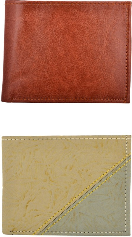 Exotique Men Multicolor Artificial Leather Wallet(5 Card Slots)