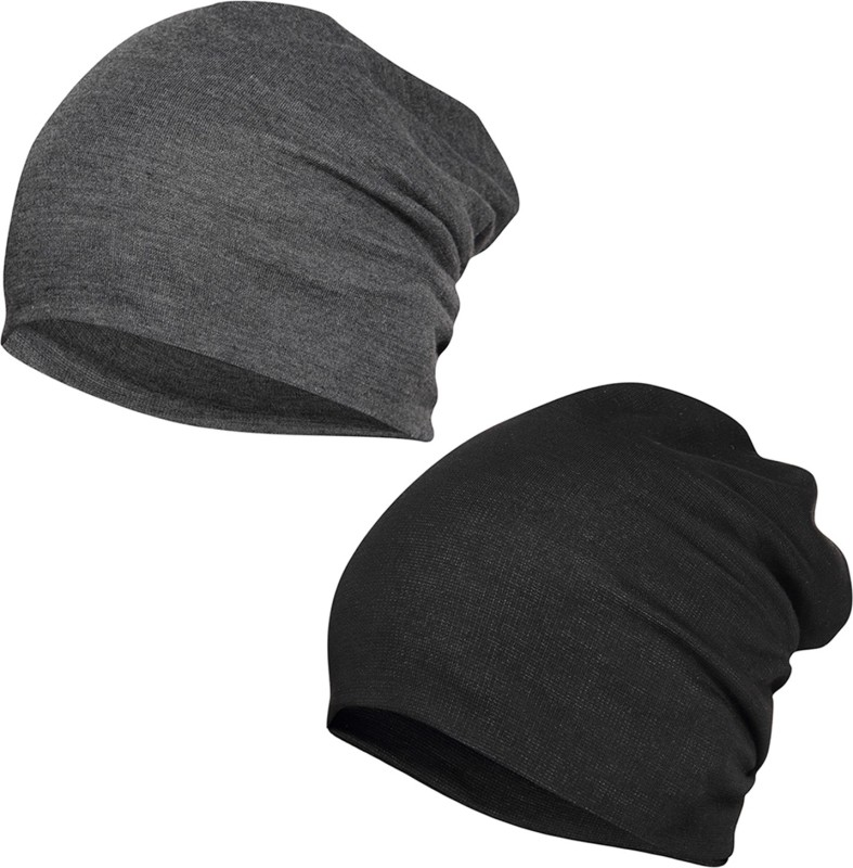 FabSeasons Solid Cotton Slouchy Beanie and Skull Cap for Summer,...