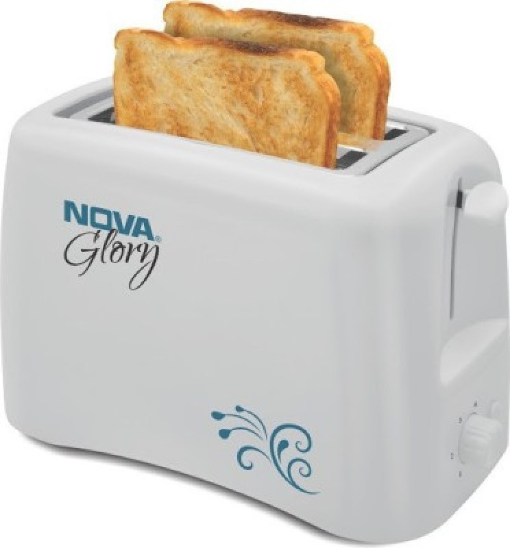 Nova NBT-23o6 800 W Pop Up Toaster(White)