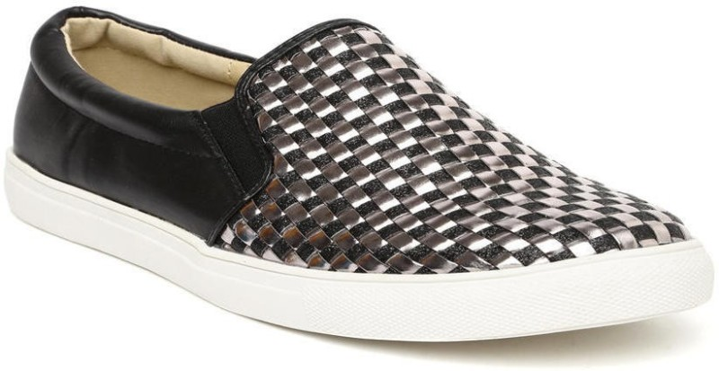 Addons Addons woven slip-on shoes Loafers For Women(Black)