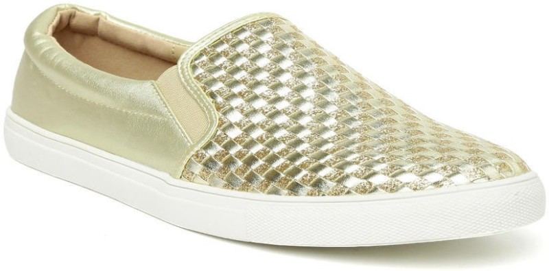 Addons Addons woven slip-on shoes Loafers For Women(Gold)