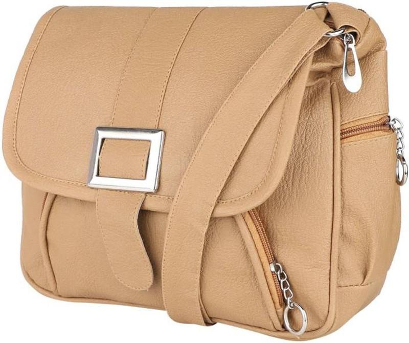 Faijan Fashions Beige Sling Bag