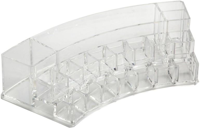 Palakz Multifunctional Curved Storage Tray Storage Vanity Box(Transparent White)