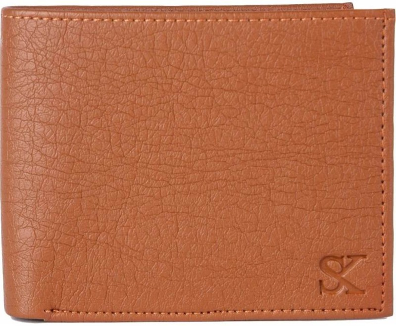Styler King Men Tan Artificial Leather Wallet(13 Card Slots)
