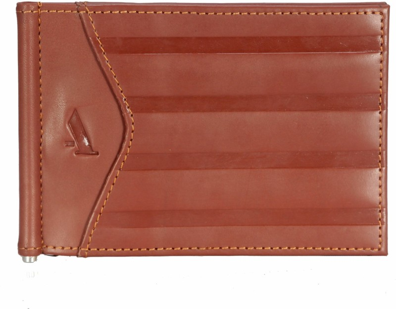 Adamis Men Tan Genuine Leather Wallet(3 Card Slots)