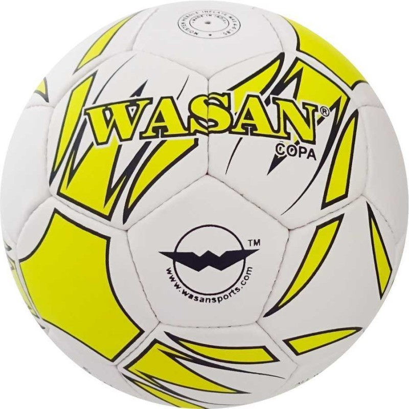 WASAN Copa Football (Yellow) with Free Pump Football - Size: 5(Pack of 1, Yellow)
