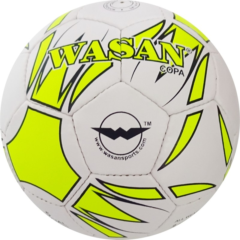 WASAN Copa Football (Flouro yellow) with Free pump Football - Size: 5(Pack of 1, Flouro yellow)