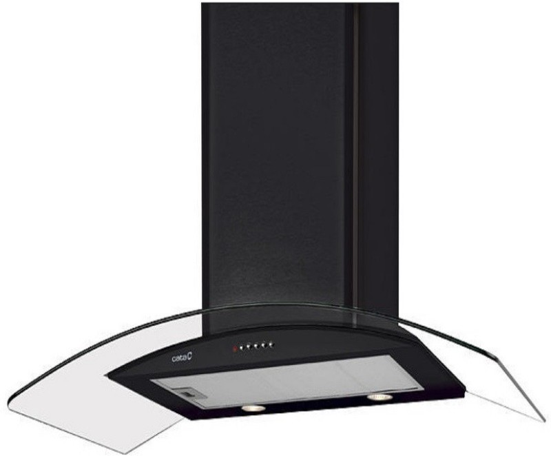 Cata C-GLASS BLACK 90 CM Wall Mounted Chimney(Black 1150)