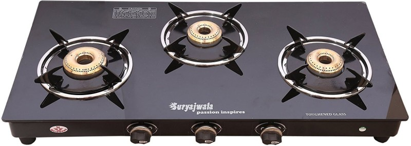 suryajwala ROYALE GT03 BB 3 Burner Stainless Steel Manual Gas Stove(3 Burners)