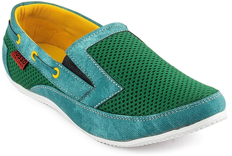 Rosso Italiano Mens Casual Shoes Loafers(Green)