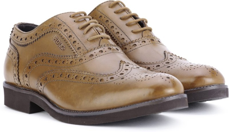 Lee Cooper Leather Lace Up Shoes(Tan)