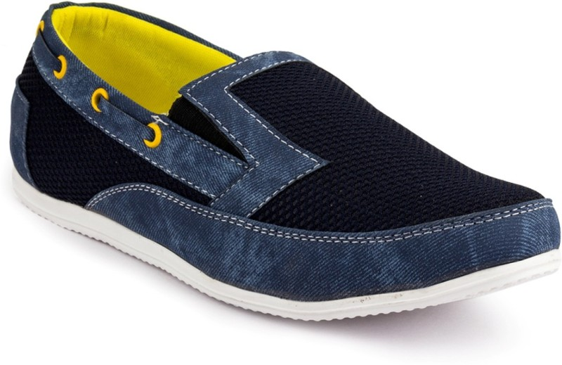 Rosso Italiano Mens Casual Shoes Loafers(Blue)