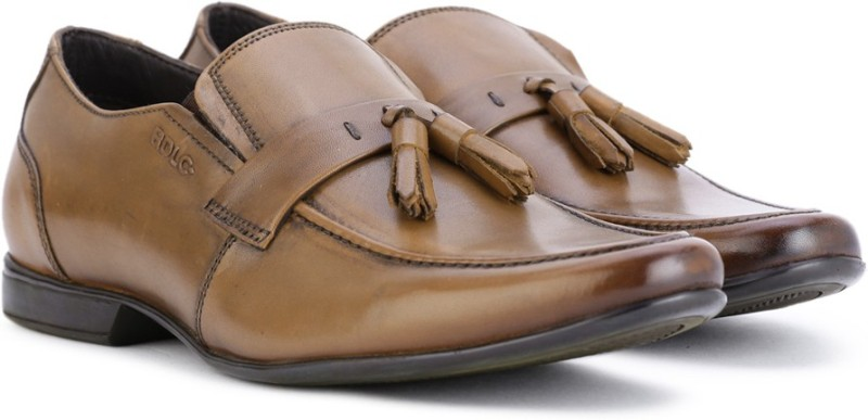 Lee Cooper Leather Slip On Shoes For Men(Tan)