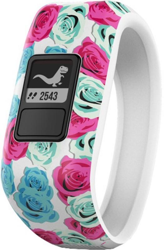 Garmin Vivofit Jr Smartband(Blue, Pink Strap, Size : Regular)