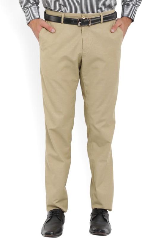 John Players Skinny Fit Men Beige Trousers