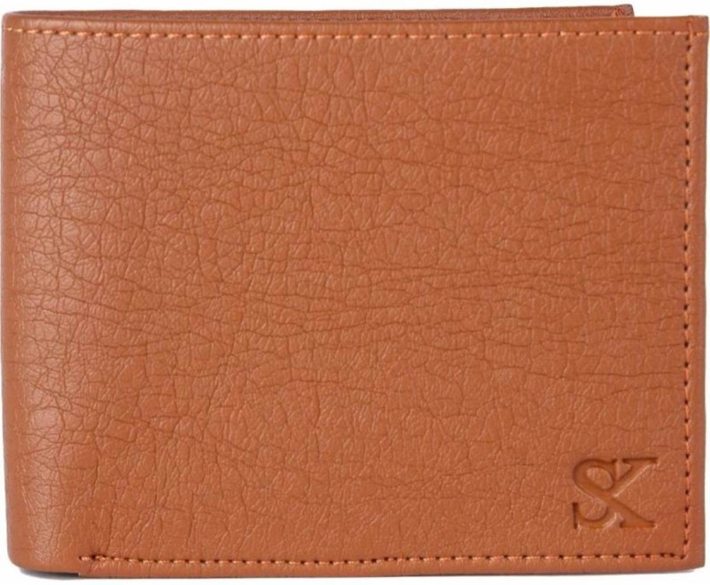 Styler King Men Tan Artificial Leather Wallet(6 Card Slots)