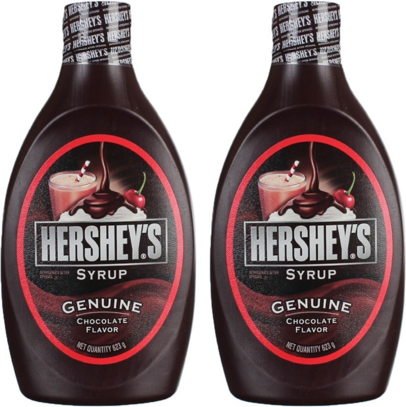 Hershey's Chocolate Syrup Pack 2(623 g, Pack of 2)