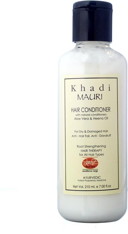 khadi mauri KHADI Herbal Hair Conditioner with Aloe Vera - Ayurvedic 210 ml(210 ml)
