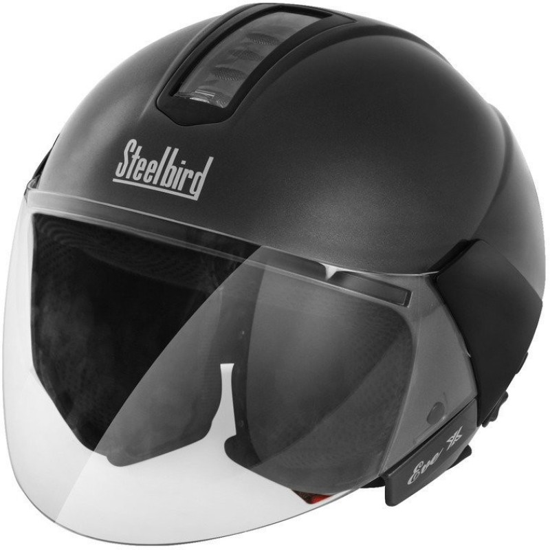 Steelbird Eve Natural Motorbike Helmet(Matt Black)