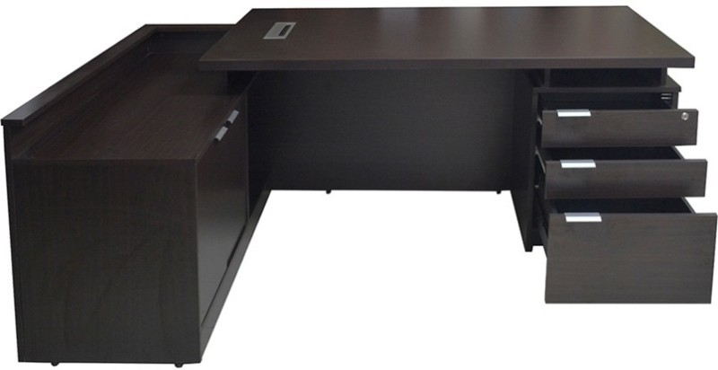 Eros Engineered Wood Office Table(Free Standing, Finish Color - Wenge)