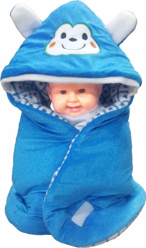 BRANDONN HOODED FOAM FILLED WELCROW STICHED SAFETY BAG Sleeping Bag(Blue) HOODED FOAM FILLED WELCROW STICHED SAFETY BAG