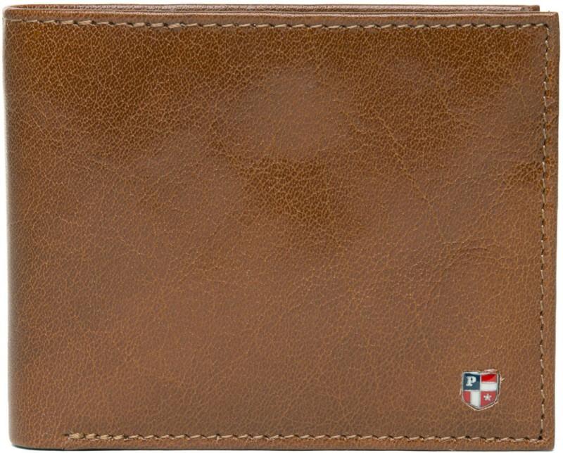 U.S. Polo Assn Men Tan Genuine Leather Wallet(4 Card Slots)