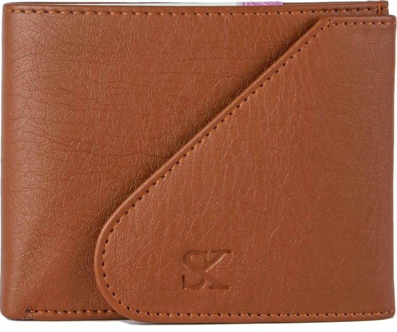Styler King Men Tan Artificial Leather Wallet(6 Card Slots)