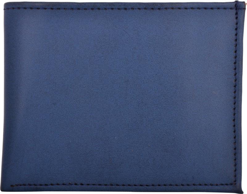 Exotique Men Blue Artificial Leather Wallet(5 Card Slots)
