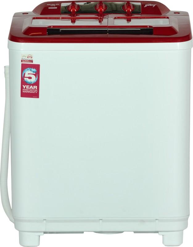 Godrej 6.5 kg Semi Automatic Top Load Washing Machine Red,...