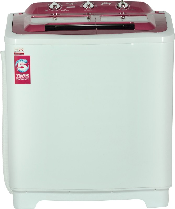 Godrej 7 kg Semi Automatic Top Load Washing Machine(GWS 7002...