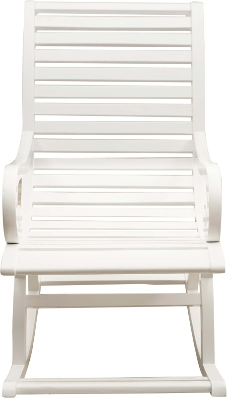 DZYN Furnitures Solid Wood 1 Seater Rocking Chairs(Finish Color - White)