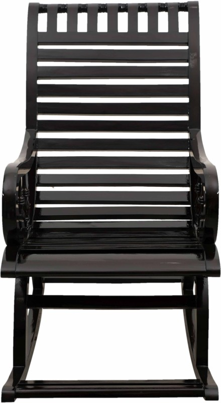 DZYN Furnitures Solid Wood 1 Seater Rocking Chairs(Finish Color - Black)