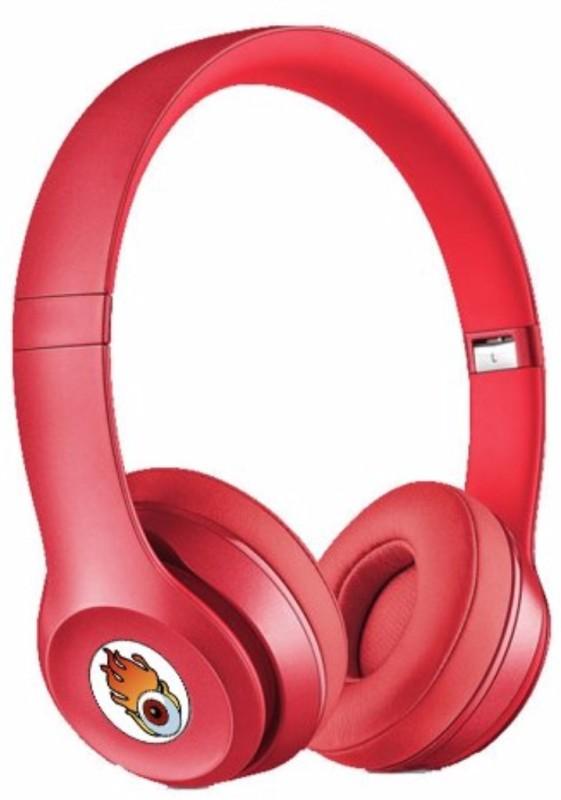 Acid Eye Red Bluetooth Wired and Wireless overear headphone S-460 Smart Headphones(Wireless)
