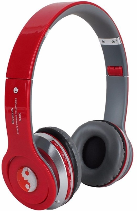Acid Eye S450-RED Bluetooth Headphone Smart Headphones(Wireless)