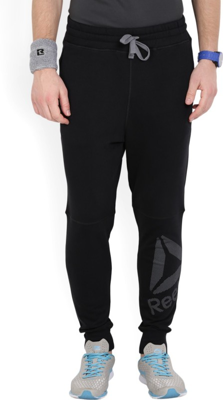 Reebok Alexander Solid Men's Black Track Pants