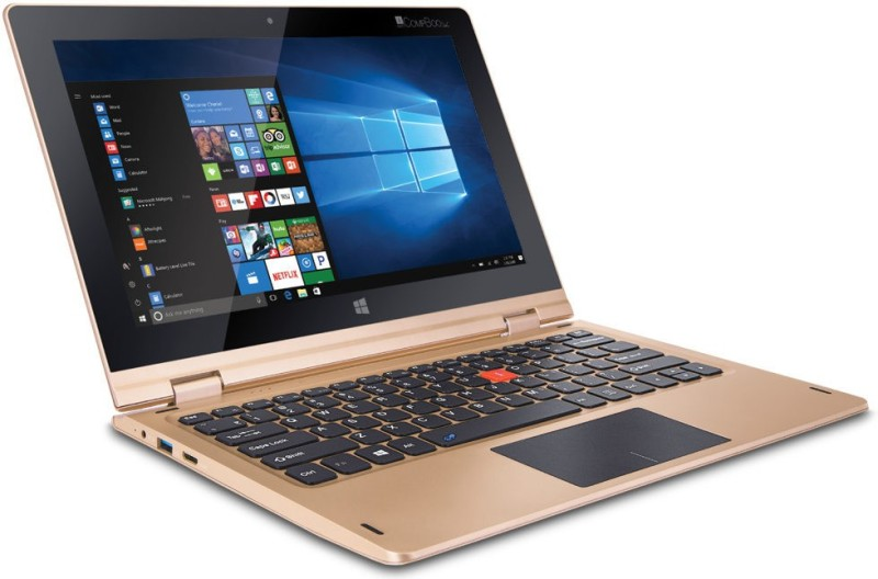 Iball Atom Quad Core - (2 GB/32 GB HDD/Windows 10) i360 2 in 1 Laptop(11.6 inch, Gold) i360
