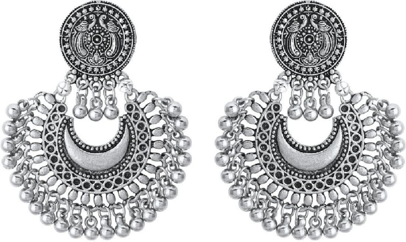 Voylla Bohemian Style Statement Chandbali Earrings Alloy Dangle Earring