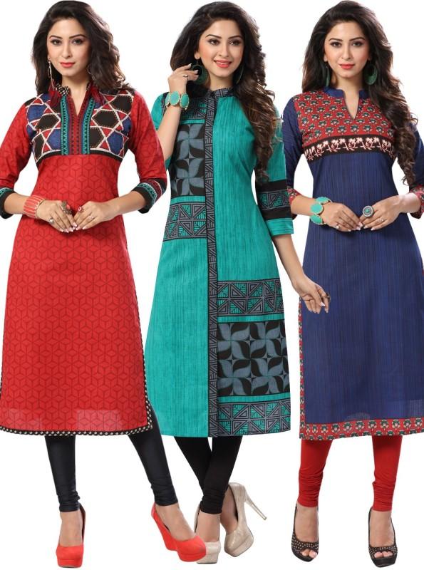 Salwar Studio Cotton Printed Kurti Fabric(Un-stitched)