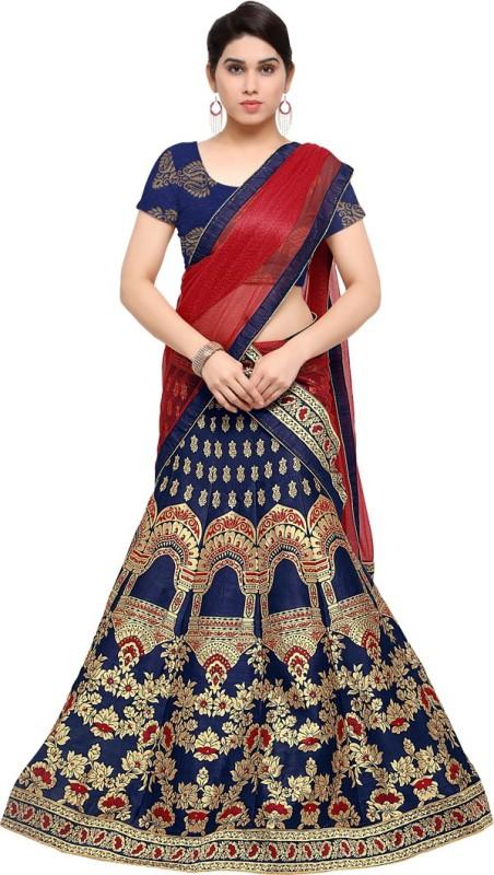 Styles Closet Jacquard Woven Semi-stitched Lehenga Choli Material
