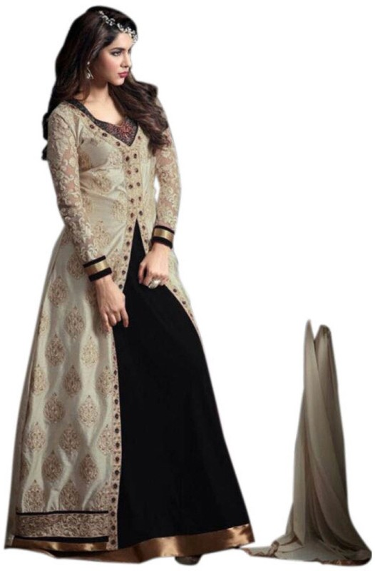 Active Art Silk Embroidered Lehenga Choli Material(Un-stitched)