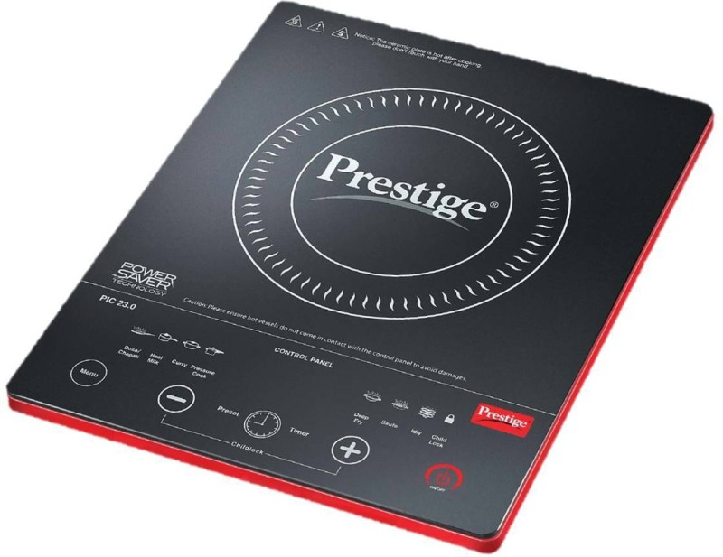 Prestige PIC 23.0 Induction Cooktop(Black, Red, Touch Panel)