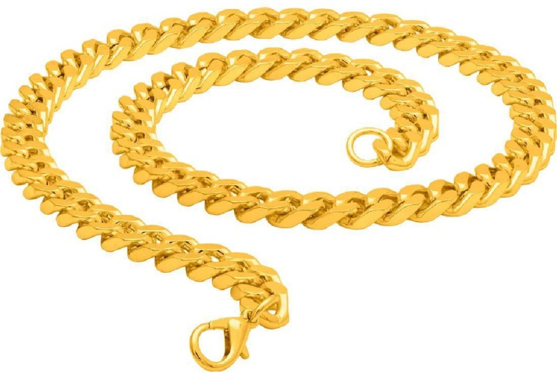 Voylla Yellow Gold Plated Brass Chain