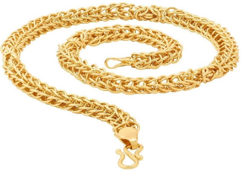Voylla Yellow Gold Plated Brass Chain
