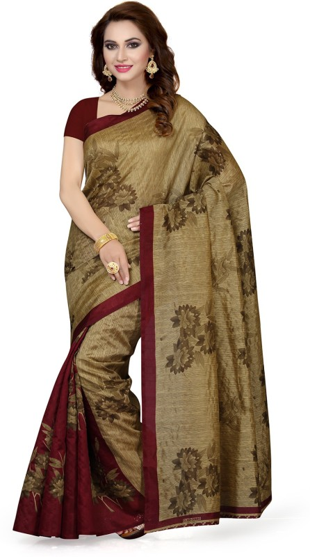Ishin Printed Bollywood Art Silk Saree(Multicolor)